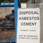 Asbestos recycling sign