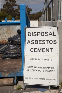 Asbestos recycling sign