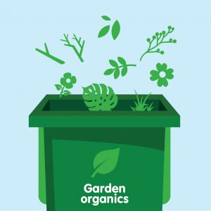 Garden Organics or 'GO' is lawn clippings and garden vegetation. Nothing else.